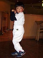 甲州市 田口龍平君 6歳